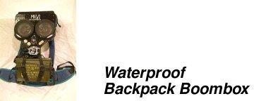 Waterproof Backpack Boombox