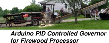 Arduino PID Controlled Governor for Firewood Processor